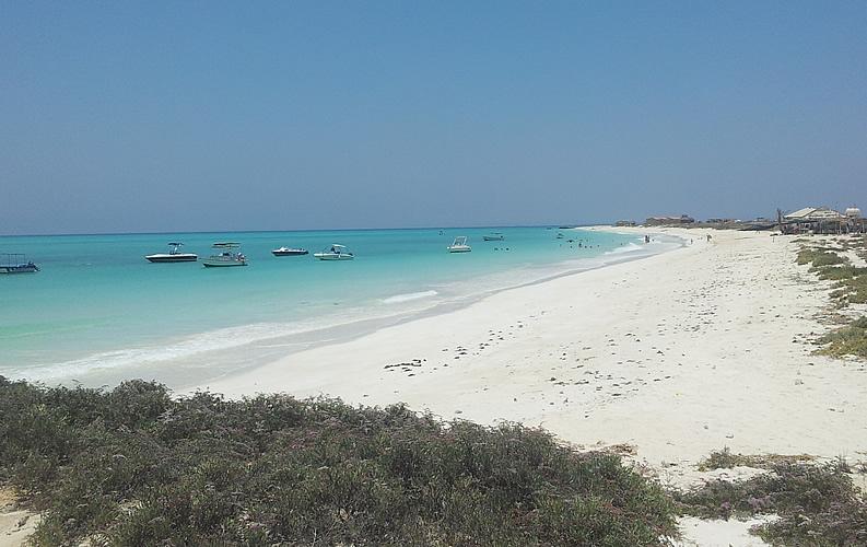 Lake Assal located in Djibouti