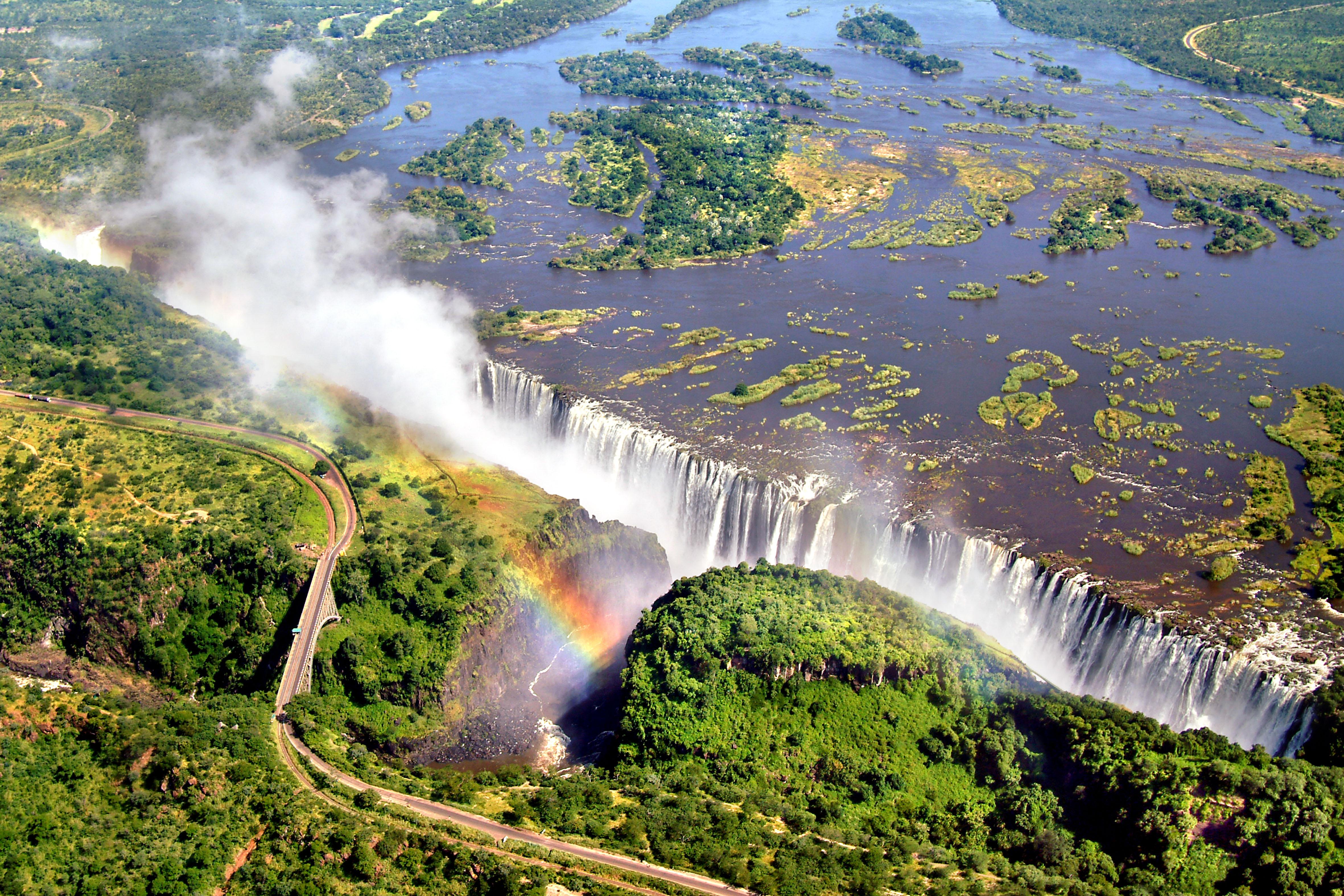 Victoria Falls located in Africa