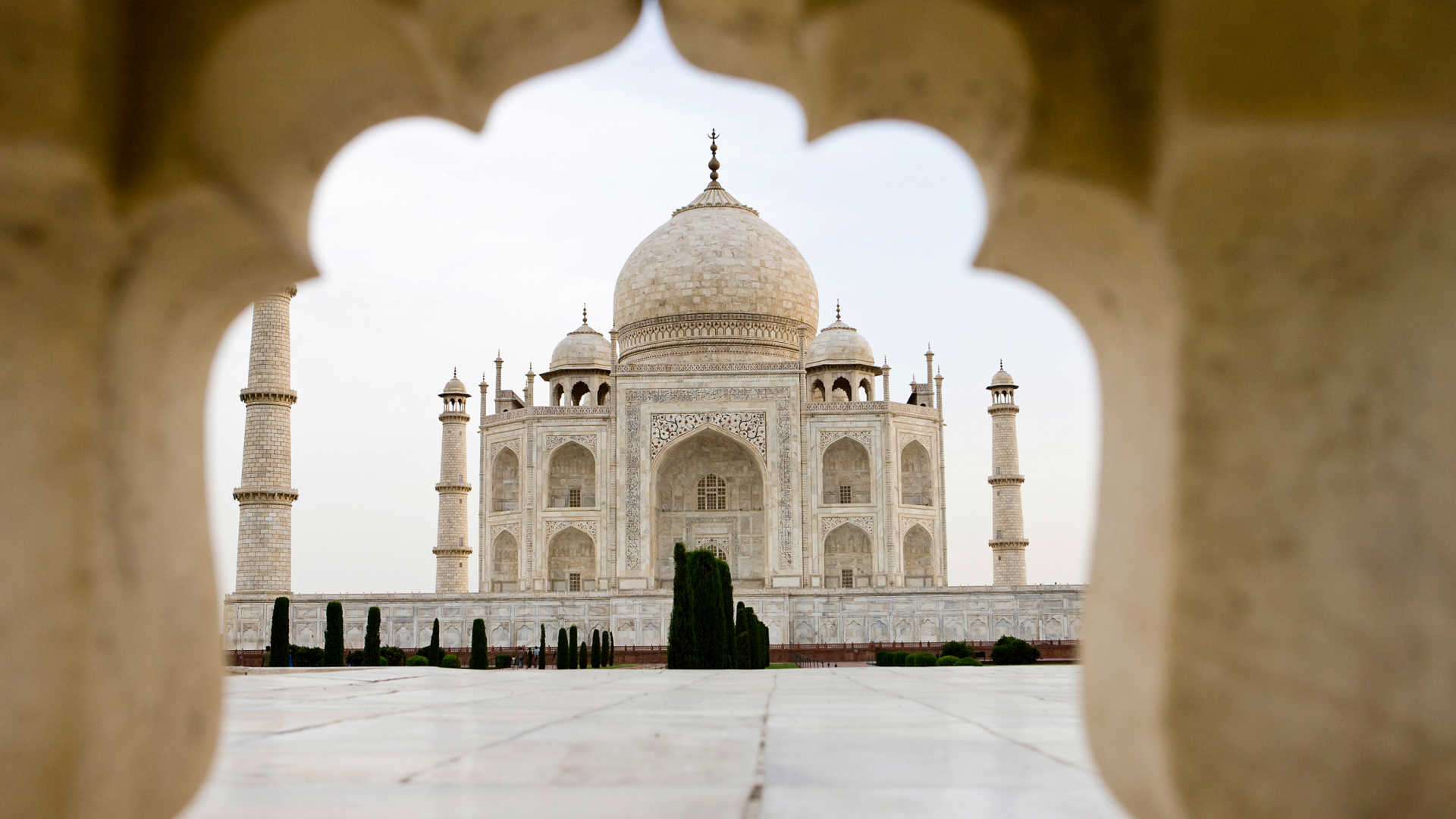 White Marble brought from Rajasthan was used to build the Taj Mahal