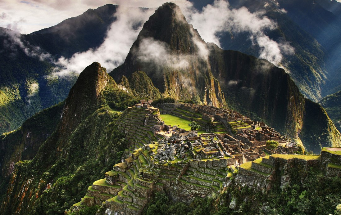 """Incas"" the ancient city occupies 32,592 hectares of mountain slopes and valley"