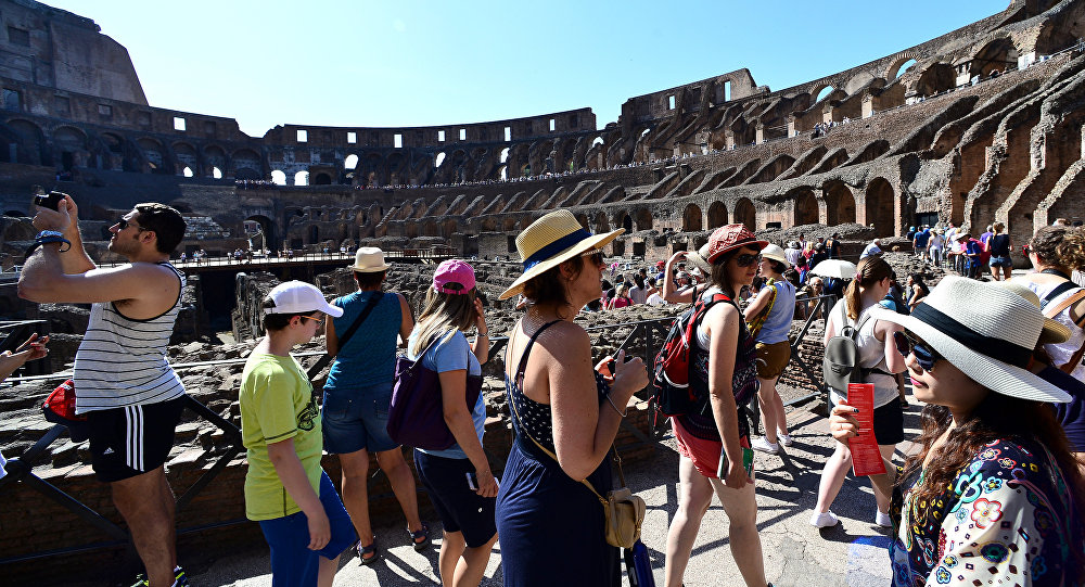 Approximately 4.2 million tourists visit the Colosseum per year.