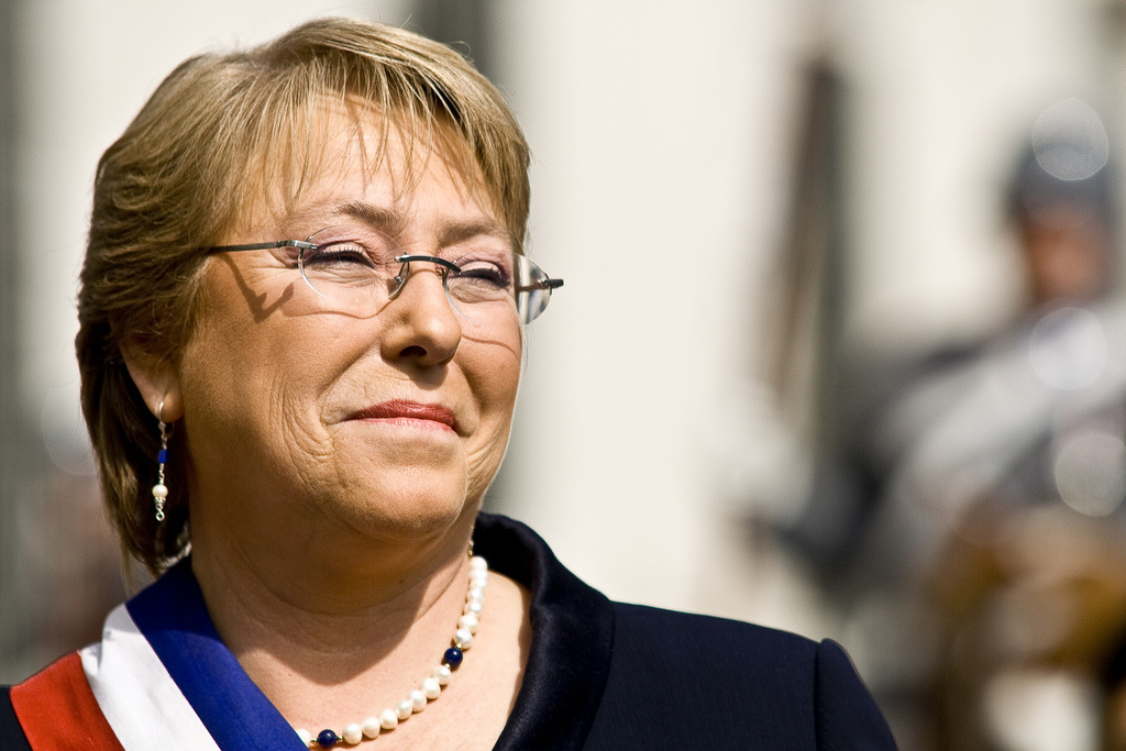 The first woman president ever in Chile was the Michelle Bachelet Jeria elected in January 2006 - Serious Facts