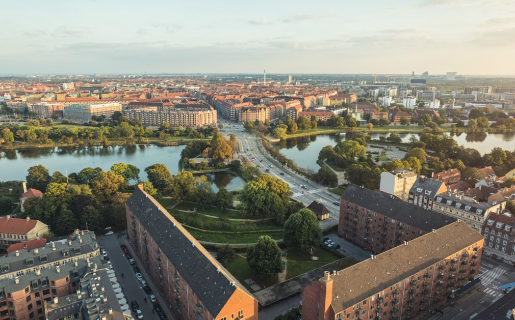 The total area of the Denmark is 43,560 square kilometers