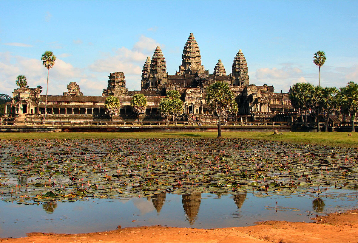 Angkor Wat found in Cambodia is the world's largest religious monument.