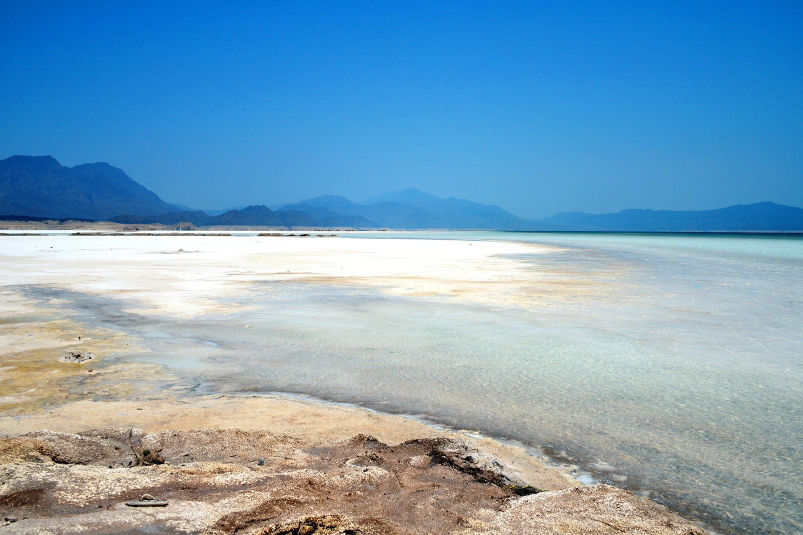 Lac Assal is the lowest point in Djibouti, it is also the lowest point on the continent of Africa.