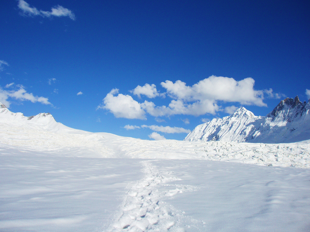 The world's longest glacial system is the Biafo Glacier located in Pakistan.