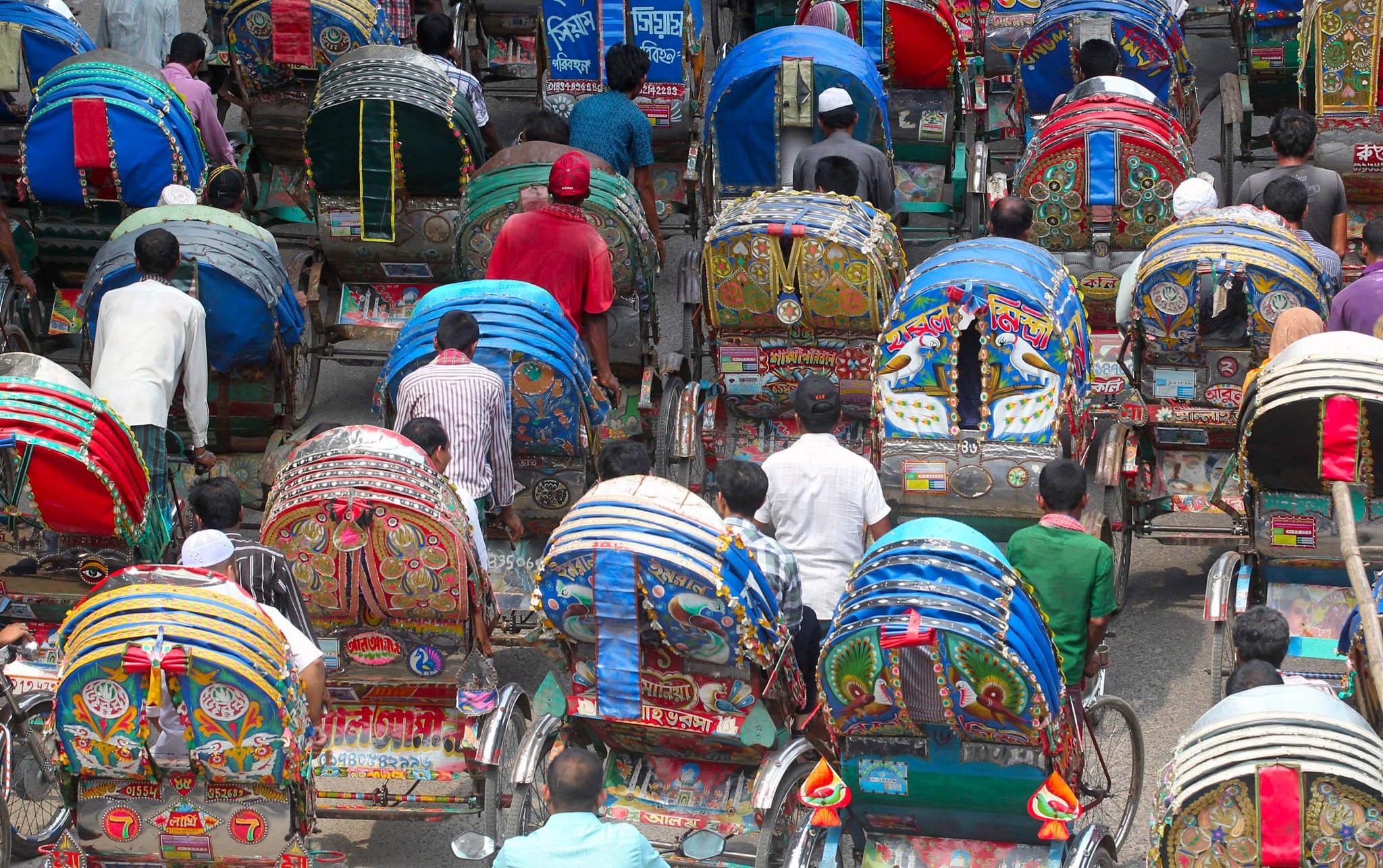 To make Dhaka rickshaw capital of the world, at least 400,000 rickshaws are traveling around the streets of Dhaka each day.