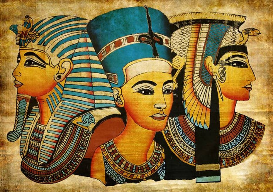 The Pharaohs kept their hair covered