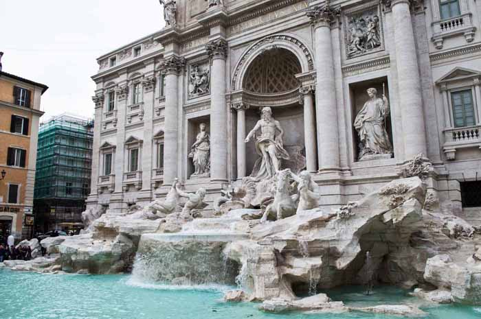 Each year around 700,000 euros gets tossed into the Trevi fountain