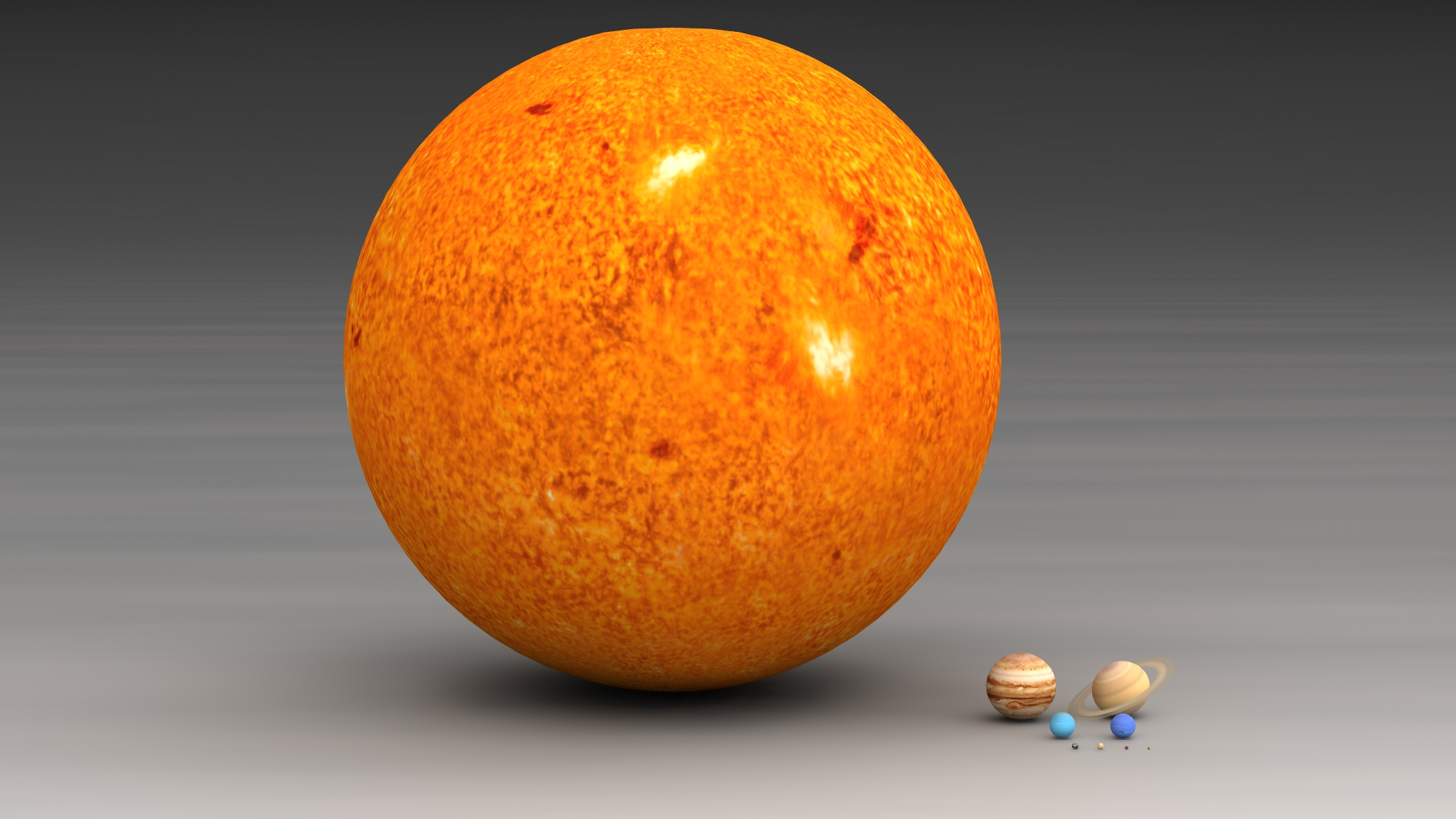 It would take 1.3 million Earths to fill up the Sun