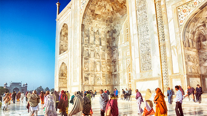 The Taj Mahal fascinates around 8 million people a year