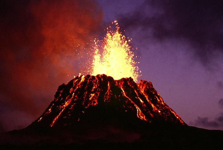 volcanoes erupts somewhere on earth every day