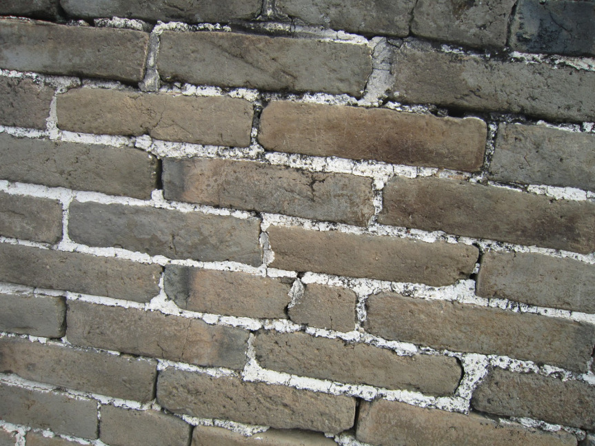 Glutinous rice was used for binding the bricks and stones.