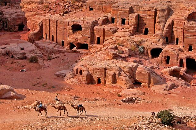 Petra has around 800 carved tombs