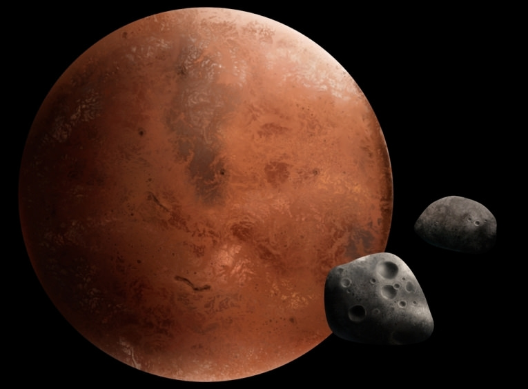 Phobos & Deimos are the two moons of the Mars
