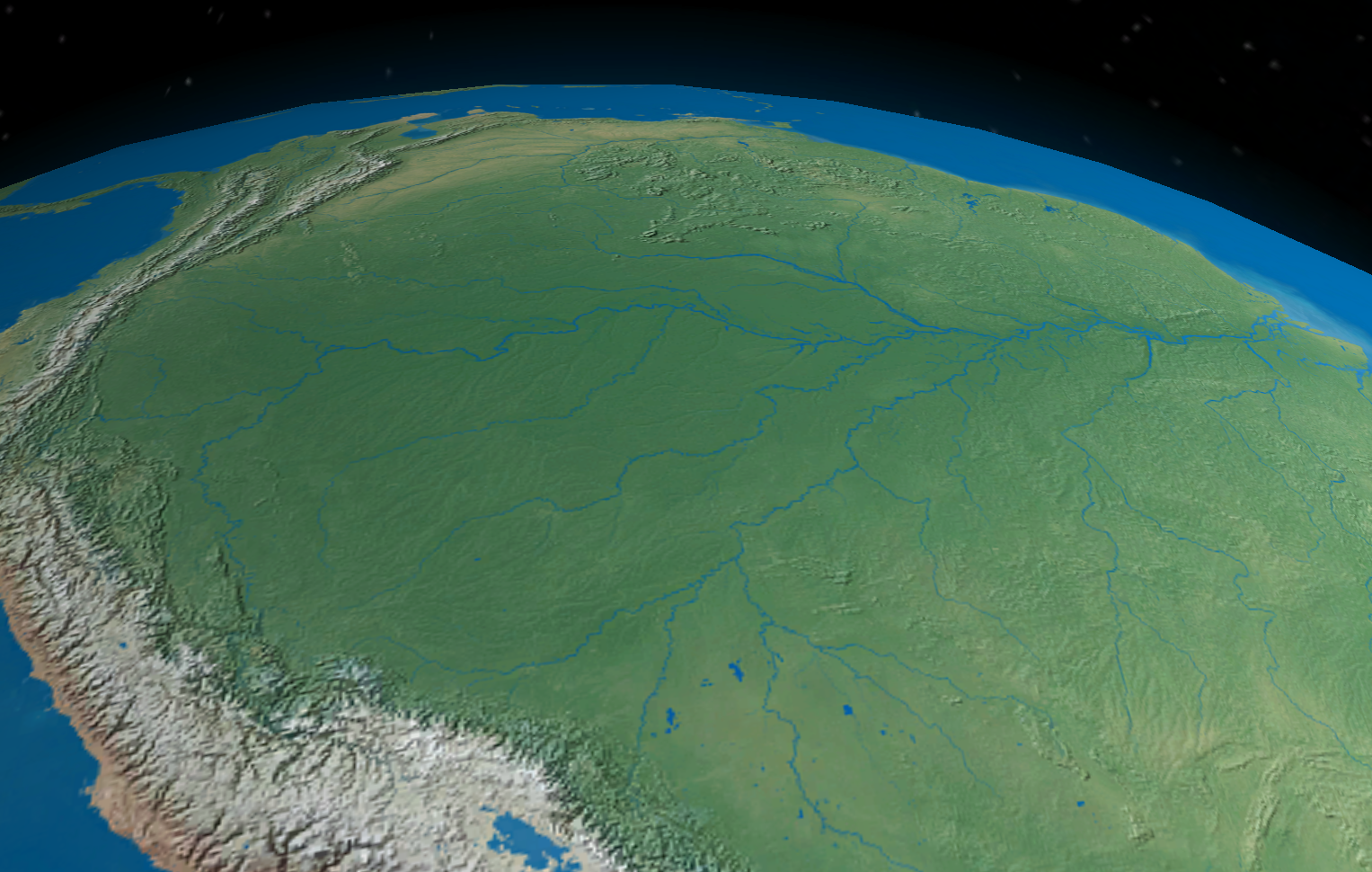 The Amazon Rainforest covers about 6% of the Earth's surface