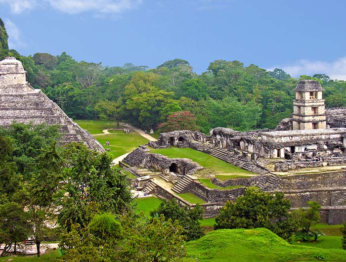 The Chichen Itza city has a diverse population of around 50,000 people.