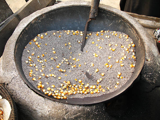 Before stoves and microwaves, hot sand was used to provide the right kind of heat to make corn kernels pop - Serious Facts
