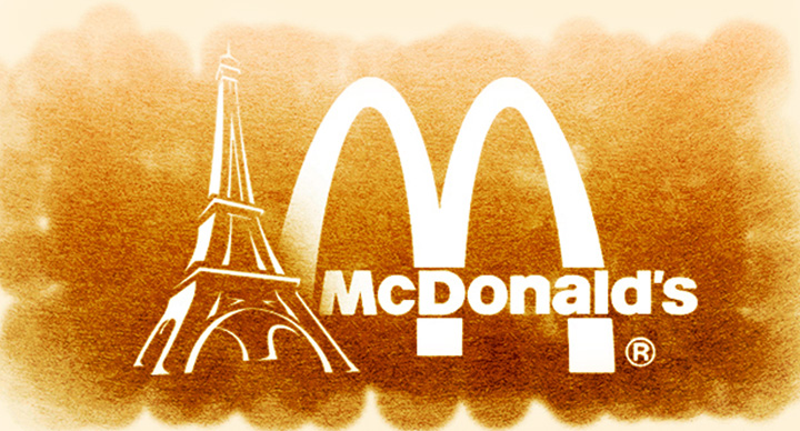 Paris is the only place where the McDonald's arches are white instead of golden.
