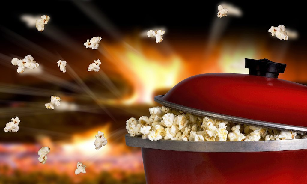 Popcorn kernels can pop up to 3 feet in the air - Serious Facts