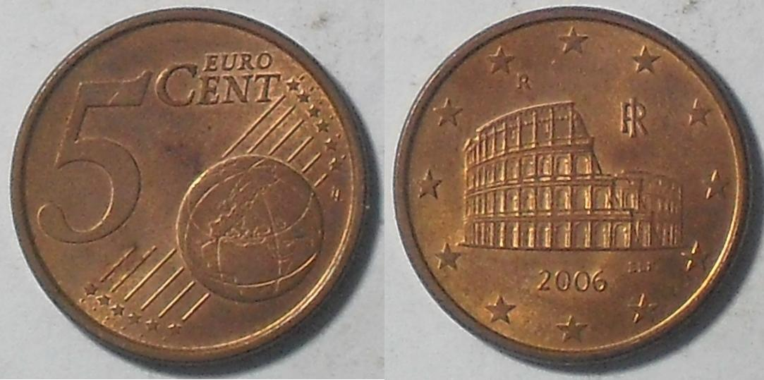 The image of the Colosseum can be seen in Italy's five-cent euro coin.