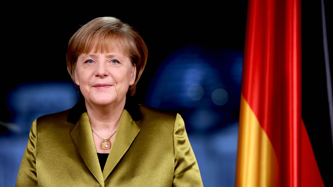 Angela Merkel was ranked as the world's second most powerful person and first most powerful woman.
