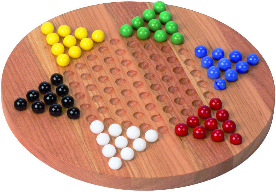 Chinese checkers ware invented in Germany.