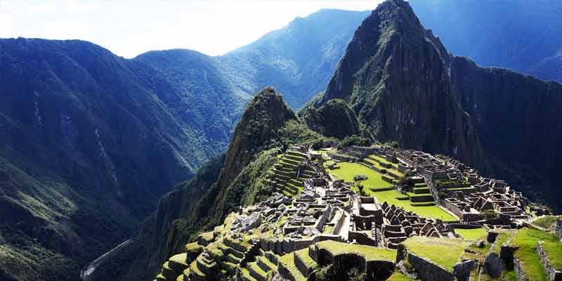 The Lost city of Machu Picchu is one of the most famous landmarks in Peru.