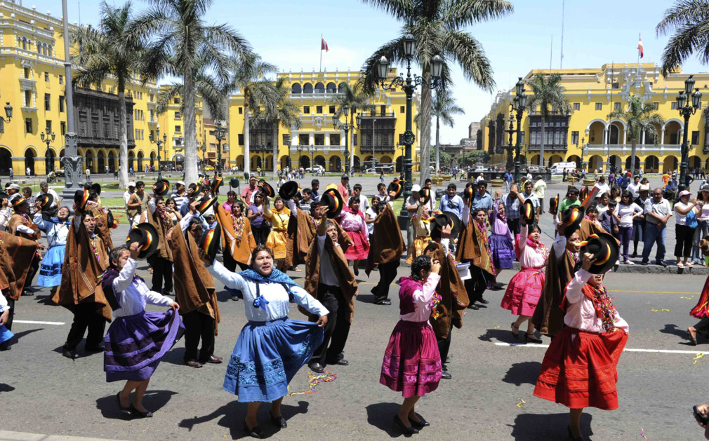 Peru's national dance is the coquettish marinera.