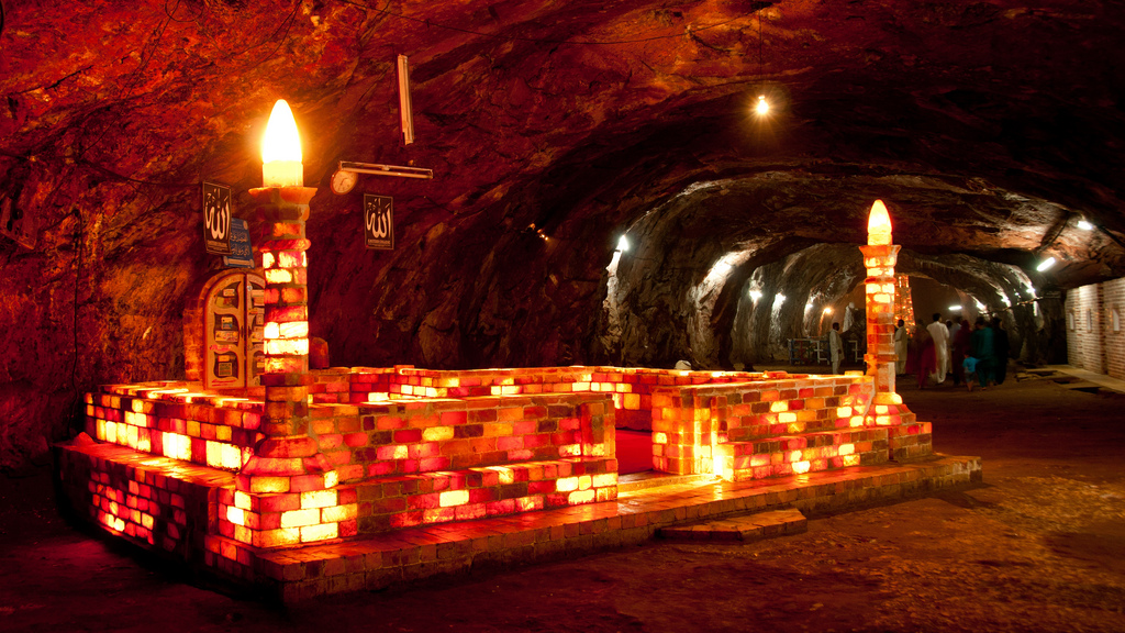 The 'Khewra Salt Mine' is the oldest and largest salt mine in the world located in Pakistan.