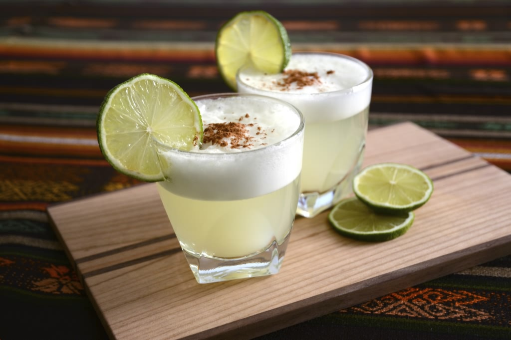 The Pisco sour is Peru's national drink.