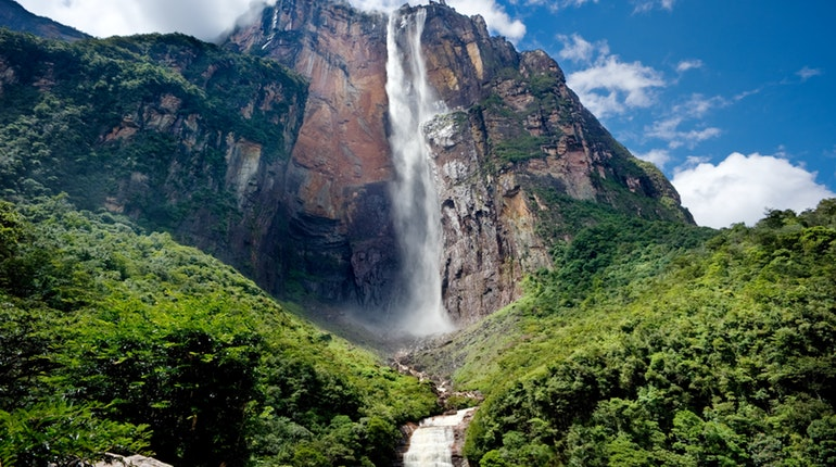 Angel Falls, the worlds tallest waterfall is located in Venezuela.