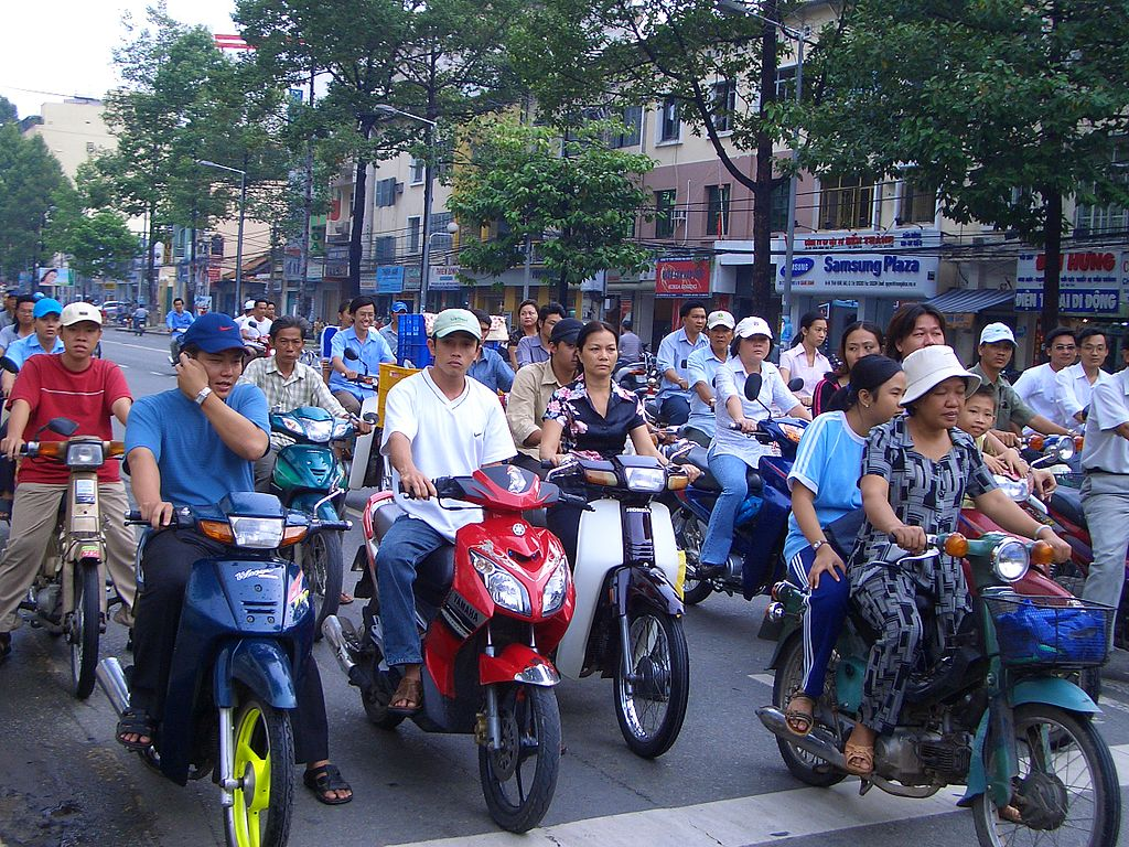Approximately ten million bikes travel on the roads of Vietnam every day.