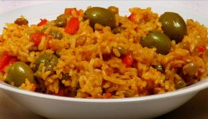 Arroz con Gandules is the national dish of Puerto Rico.