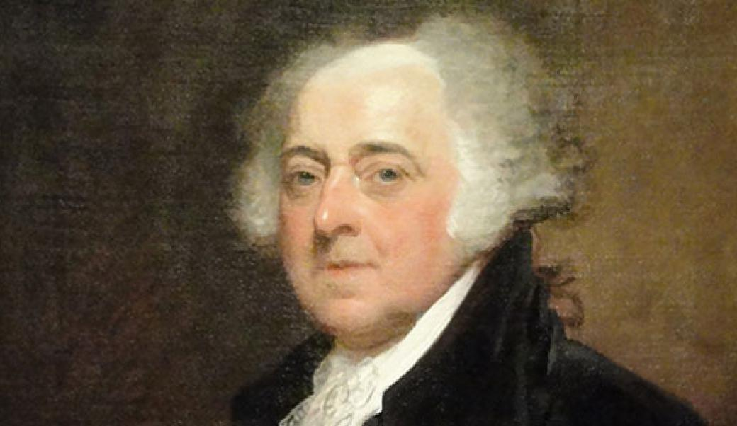John Adams was the first president to inhabit the mansion in 1800.