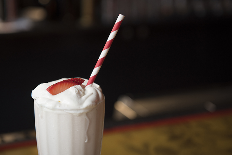 Milkshakes originally contained alcohol.