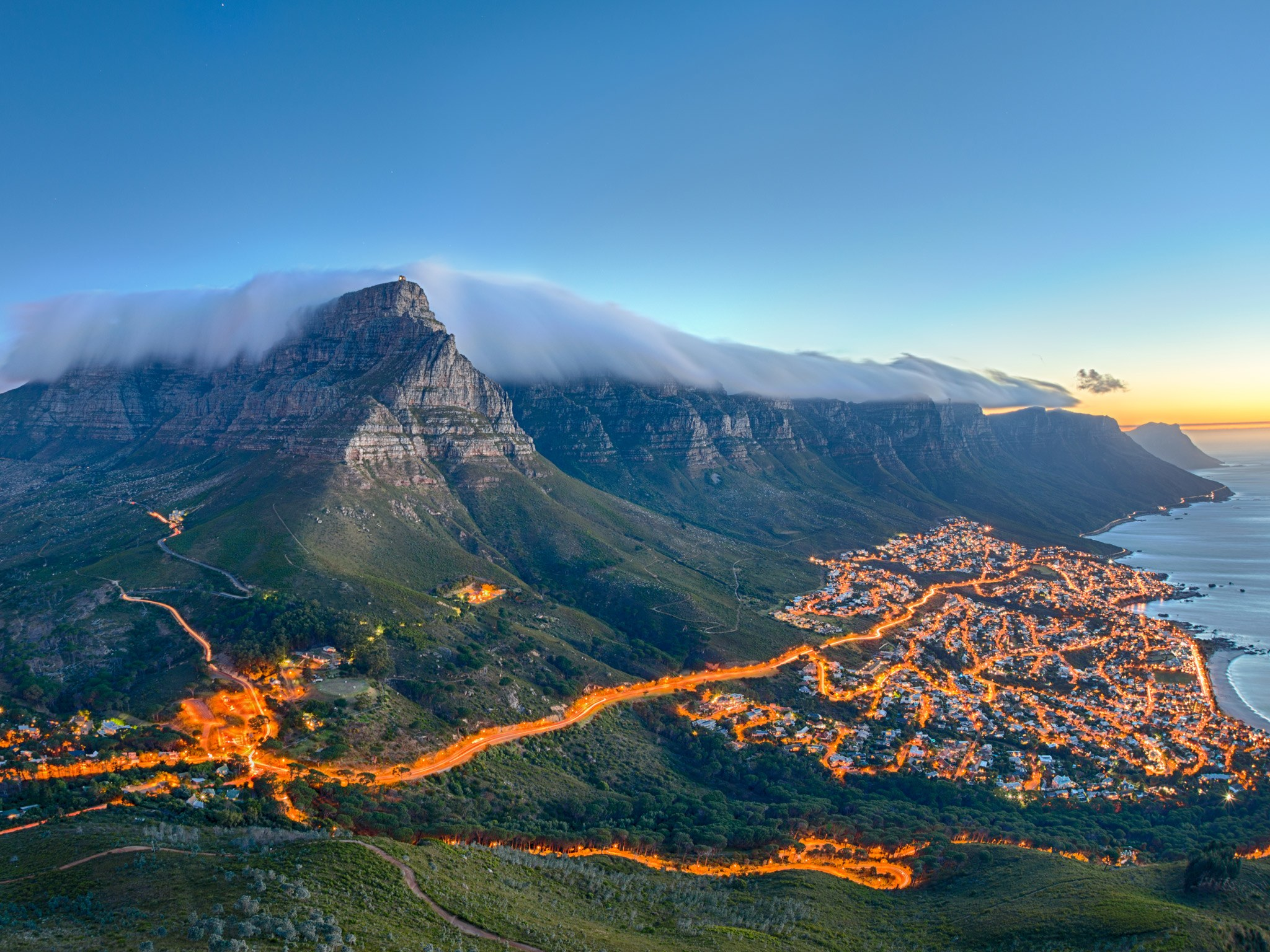 Table Mountain is one of the oldest mountains on the Earth which is found in South Africa.