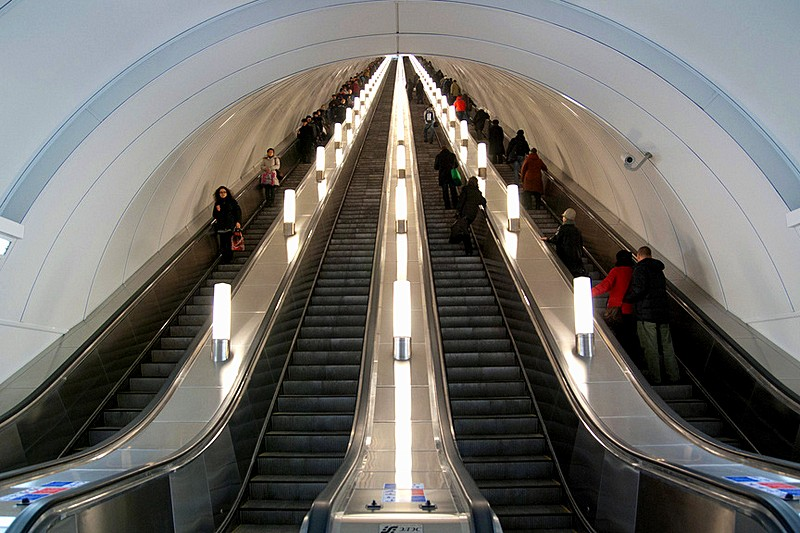 The Metro of St. Petersburg is the deepest subway in the world.