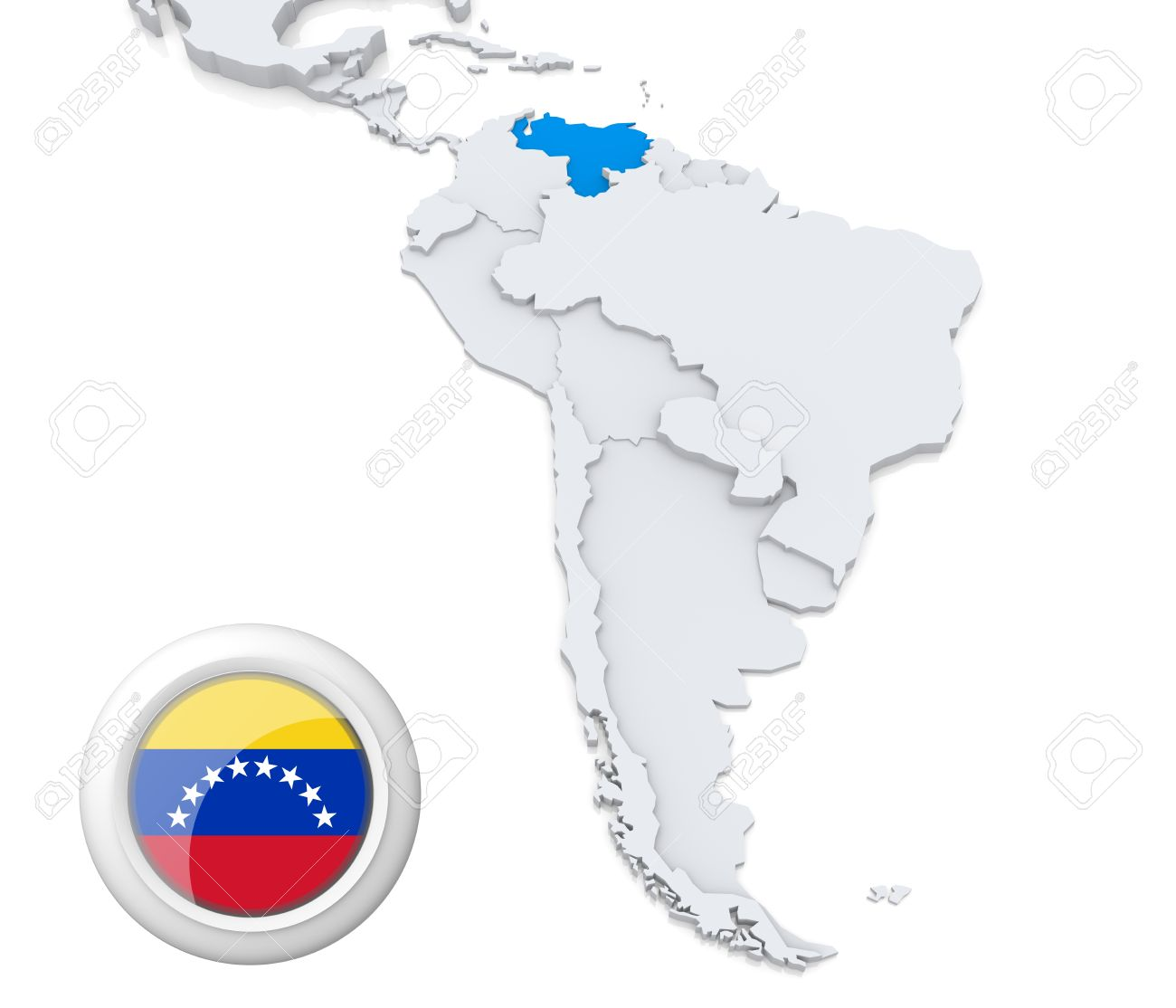 Venezuela is located on the northeast coast of South America