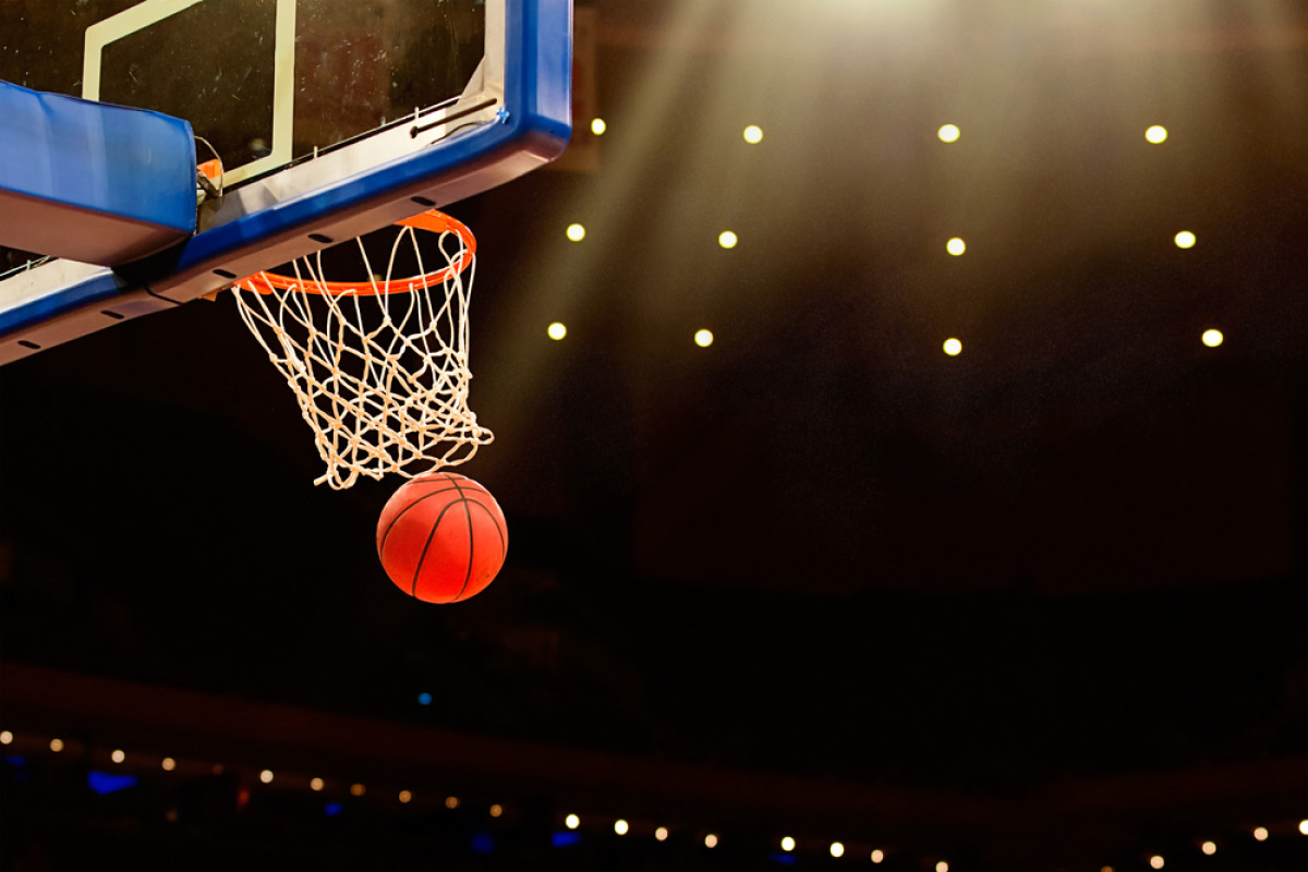 When a team shoots the ball into the basket, a goal is scored.