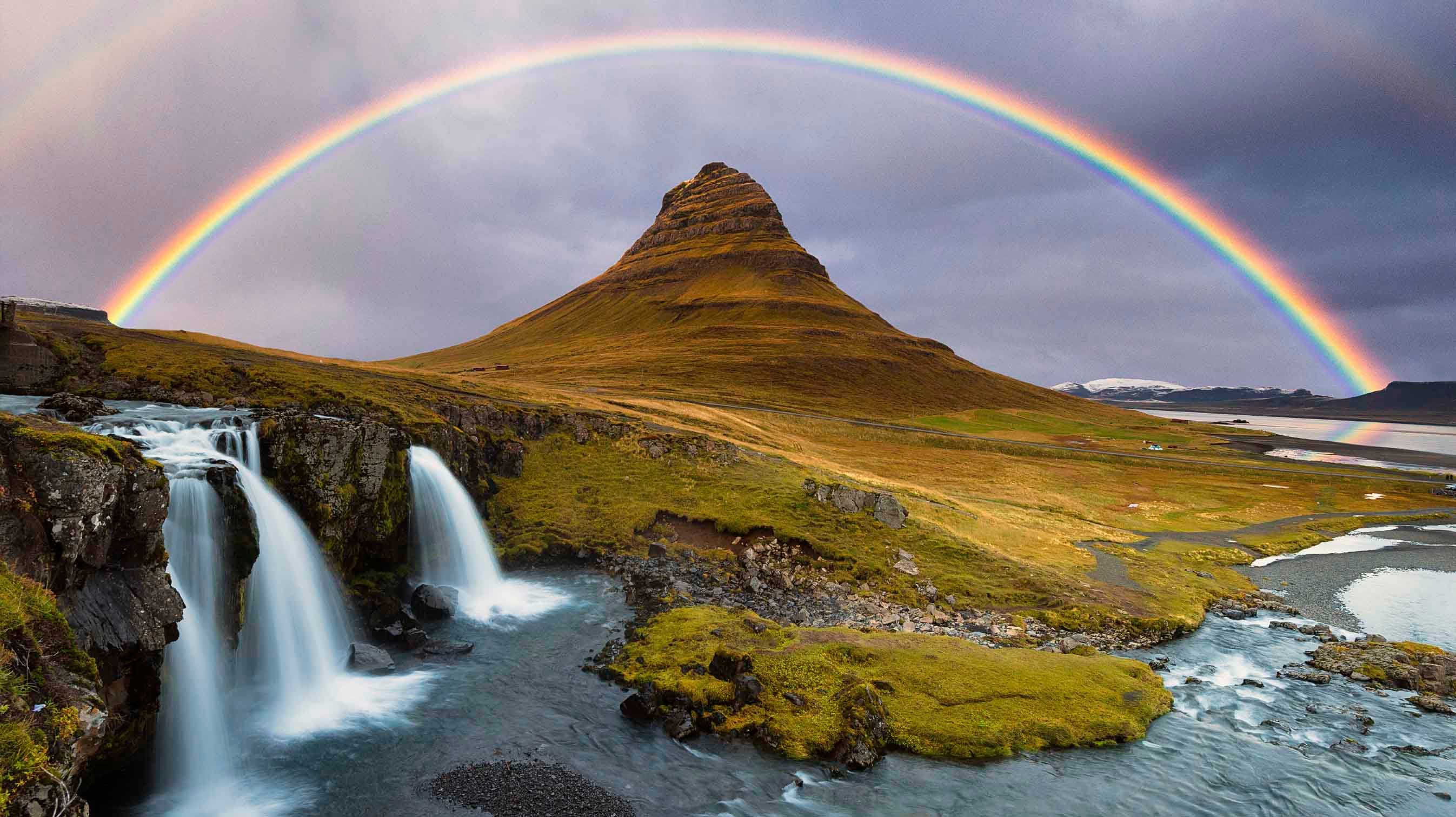 """Rainbow"" comes from the Latin arcus pluvius, meaning ""rainy arch."""