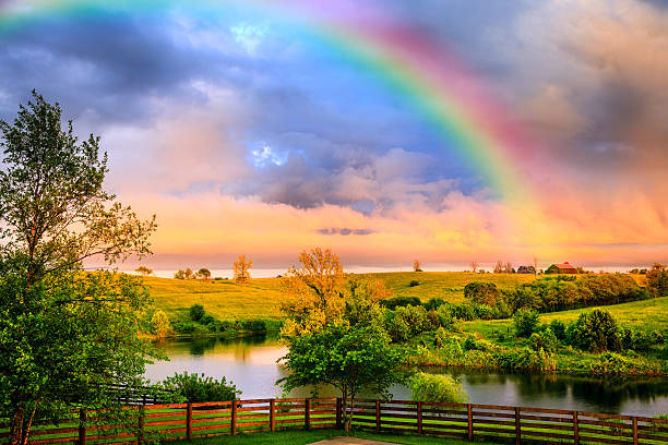 According to Greek mythology the rainbow is a bridge between the heavens and earth.