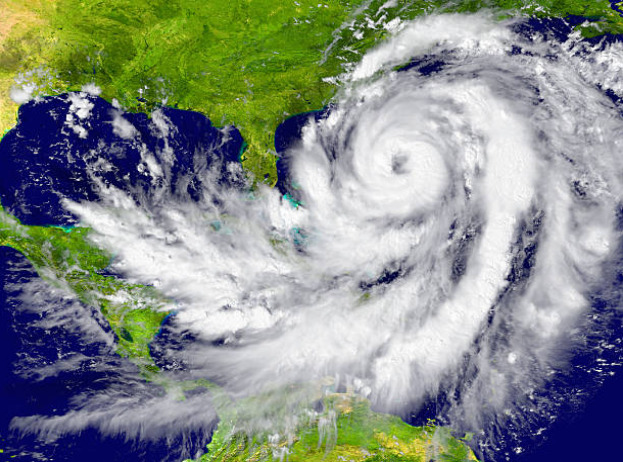 The eye of a hurricane can be anywhere from 3.2 kilometers in diameter to over 320 kilometers.