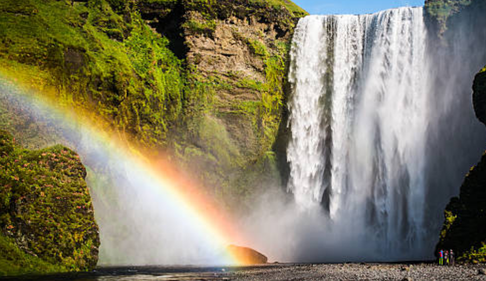 You see more rainbows in tropical locations and by waterfalls.