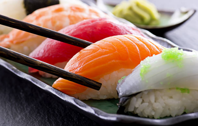 Nigiri is meant to be eaten upside down for the best sushi dining experience.