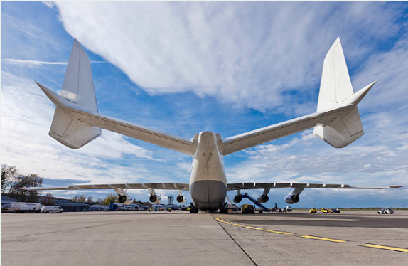 The Antonov AN-225 cargo jet is the largest plane in the world.