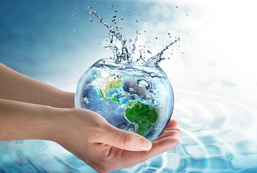 Water covers 70.9 percent of the planet's surface.