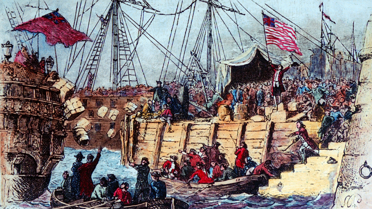 The East India Company reported losses of £9,659 after the Boston Tea Party.