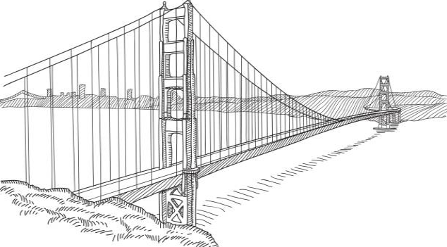 Leonardo produced a drawing of a single span of 220 m bridge as part of a civil engineering project for Ottoman Sultan Bayezid II of Constantinople in 1502.