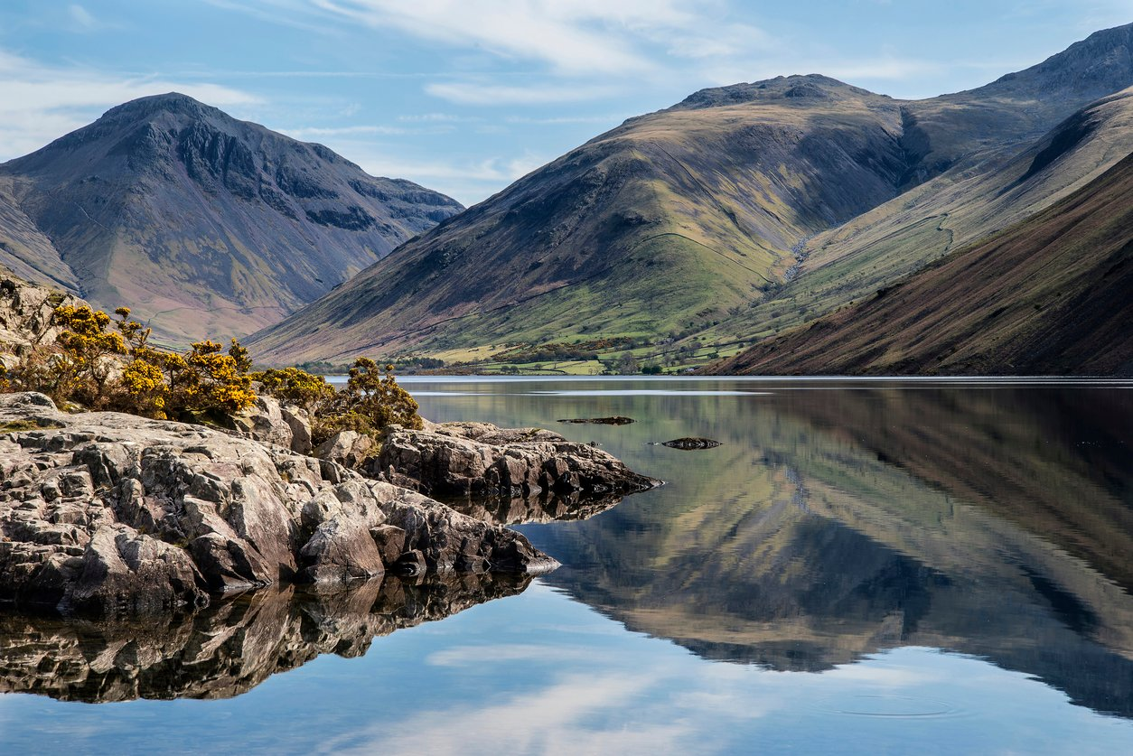 The highest mountain in England is Scafell Pike, which stands at around 978 metres (3,209 ft) in height.